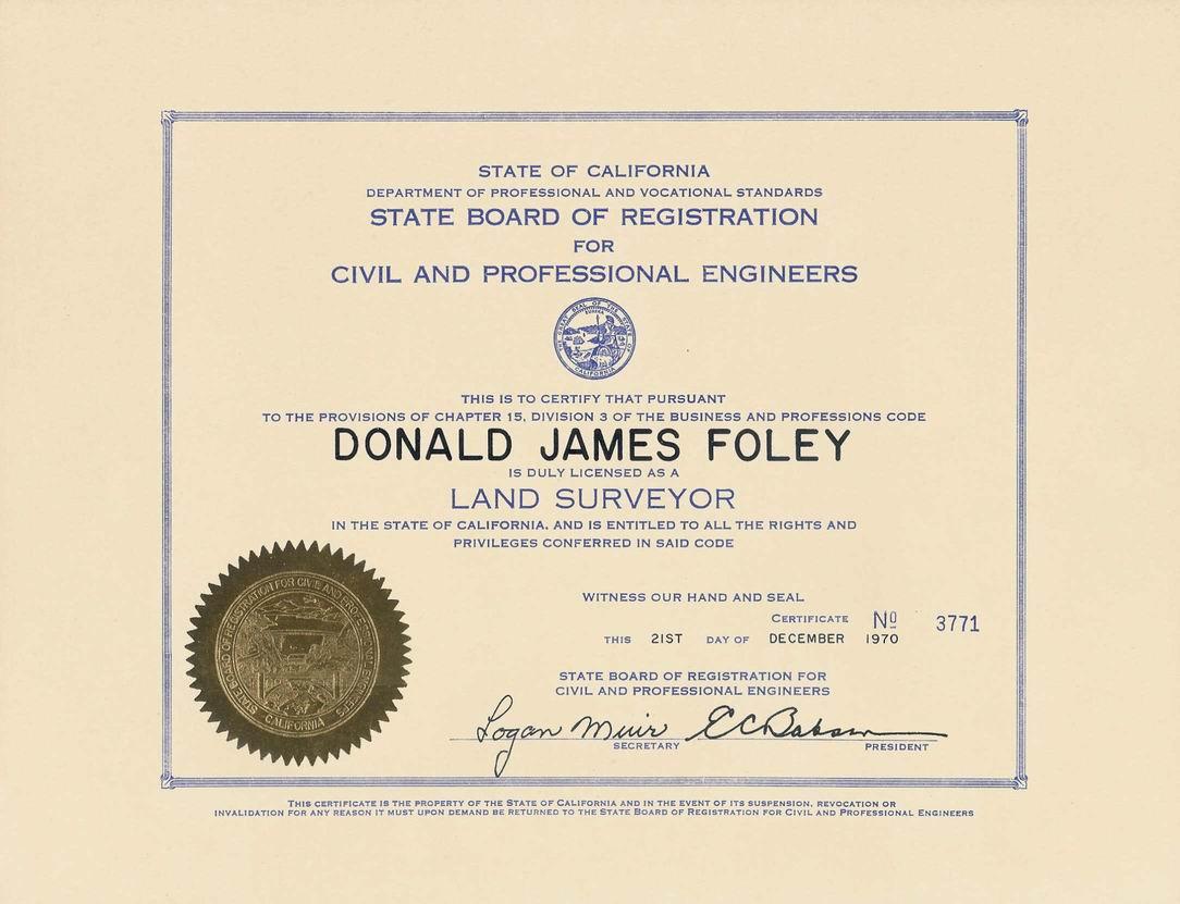Donald Don James Foley 78